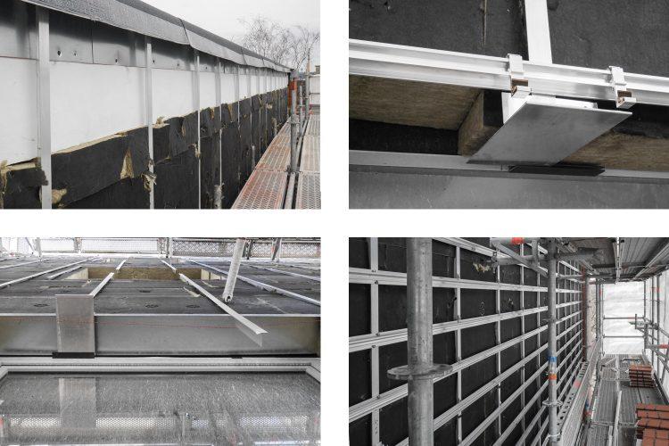 Montage Unterkonstruktion Tonplattenfassade