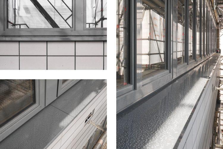 Montage Alu-Fensterbänke