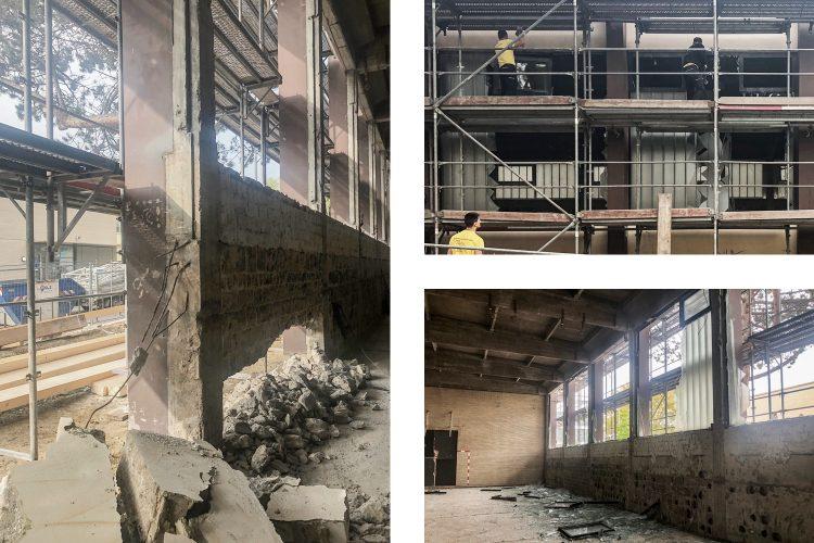 Abbrucharbeiten Fassade Süd