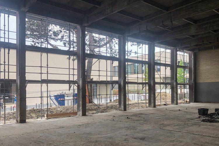 Fertigstellung Abbrucharbeiten Fassade Süd