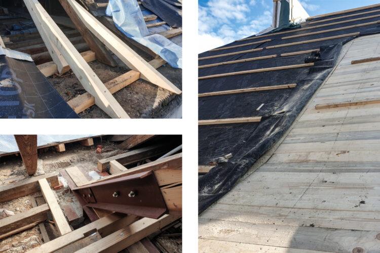 Instandsetzung Sparren und Erneuerung der Dachhaut