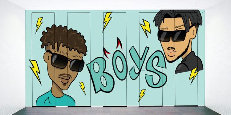 WC-Trennwand Jungen